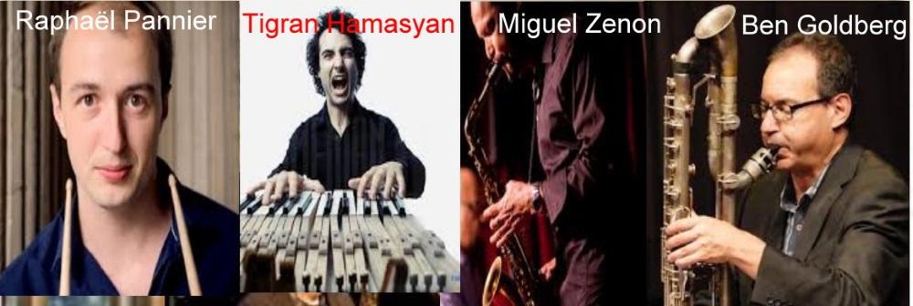 Ben Goldberg, Raphaël Pannier, Miguel Zenon e Tigran Hamasyan