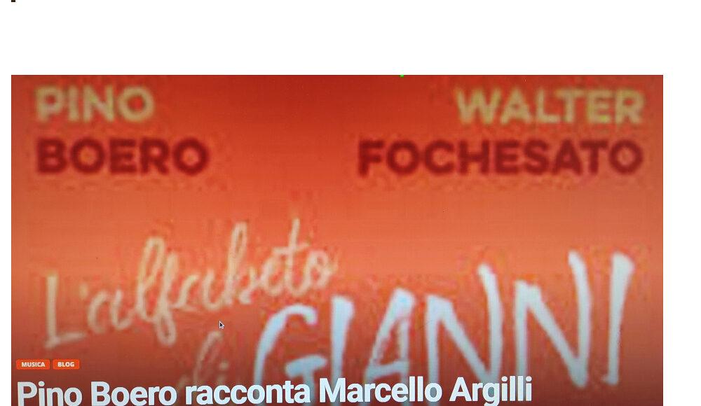 Pino Boero Marcello Argilli