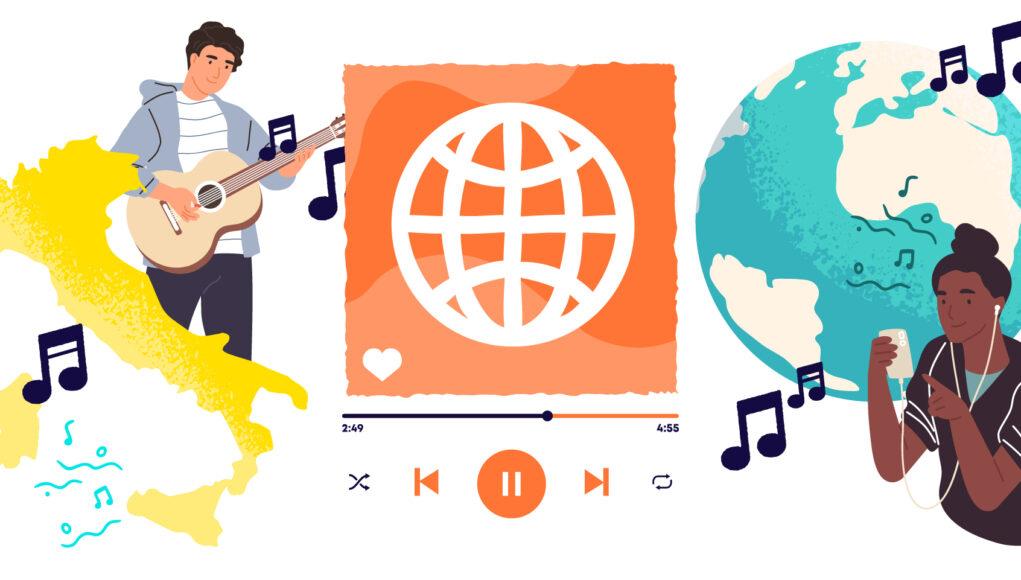 imparare le lingue con la musica