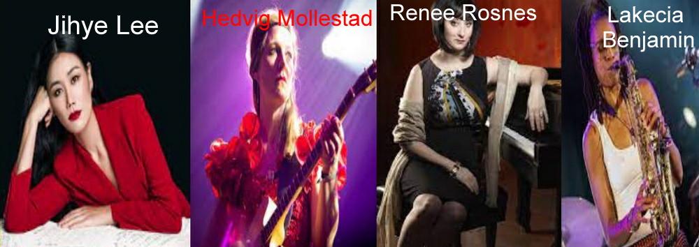 Renee Rosnes, Lakecia Benjamin, Hedvig Mollestad e Jihye Lee
