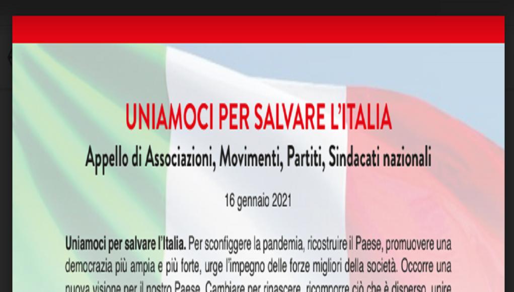uniti per salvare l'italia