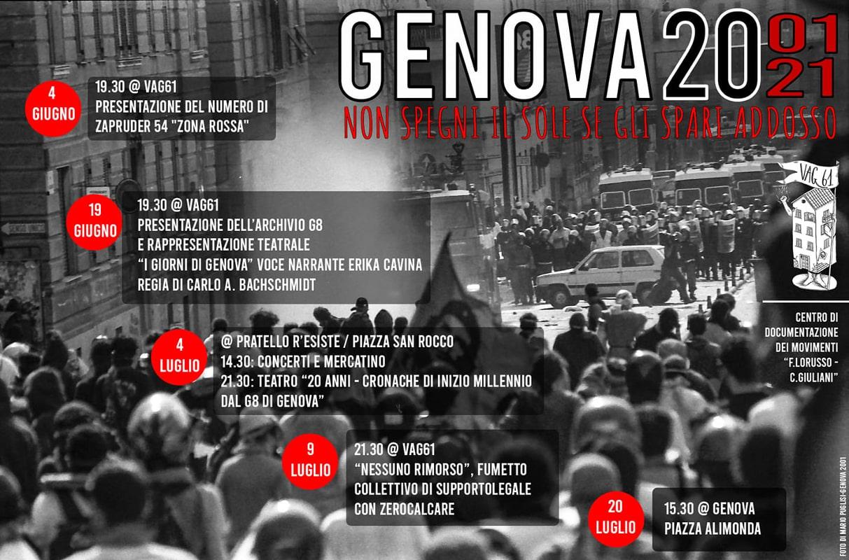 Genova 2001, le iniziative bolognesi a vent'anni dal G8